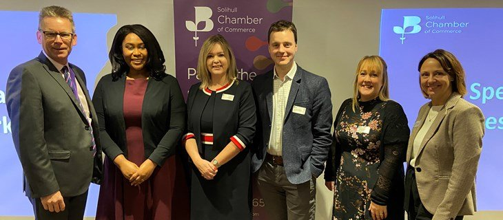 Fiona Sanderson at the Solihull Chamber of Commerce
