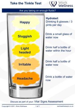 Healthy hydration levels