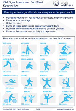Benefits of keeping active