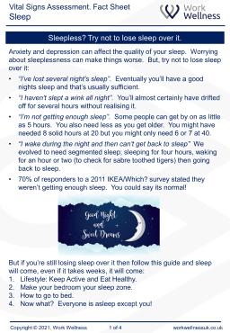 Sleep fact sheet