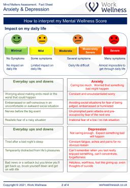 Employee mental health report